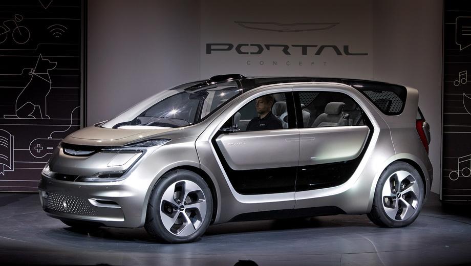 Chrysler portal,Chrysler concept. Колёсная база о-го-го — 3002 мм. Длина машины — 4696, ширина — 2003, высота — 1706 мм. Подвеска: спереди стойки McPherson, сзади скручивающаяся балка. Шины — 265/45 R21.