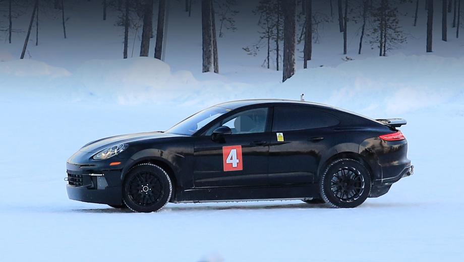 Porsche mission e. Тестовый образец электромобиля сфотографирован вблизи полярного круга. Разработчики хотят убедиться, что их творение будет пригодно для эксплуатации не только в Калифорнии.