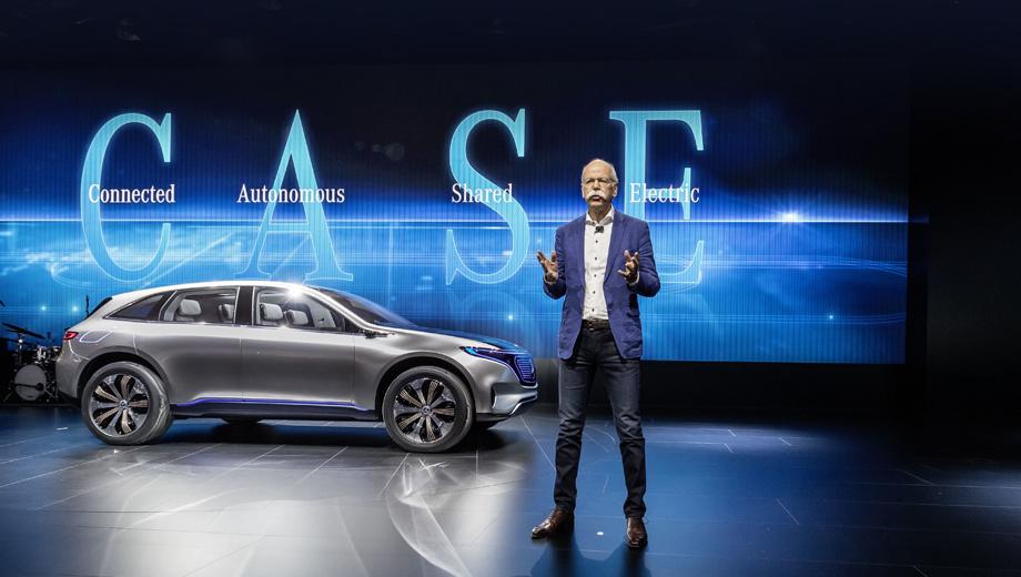 Mercedes -maybach. Стратегия развития суббренда EQ — Connected, Autonomous, Shared, Electric (доступ в Сеть, автономность, использование в сетях каршеринга и электрификация) — будет распространена на Mercedes в целом.