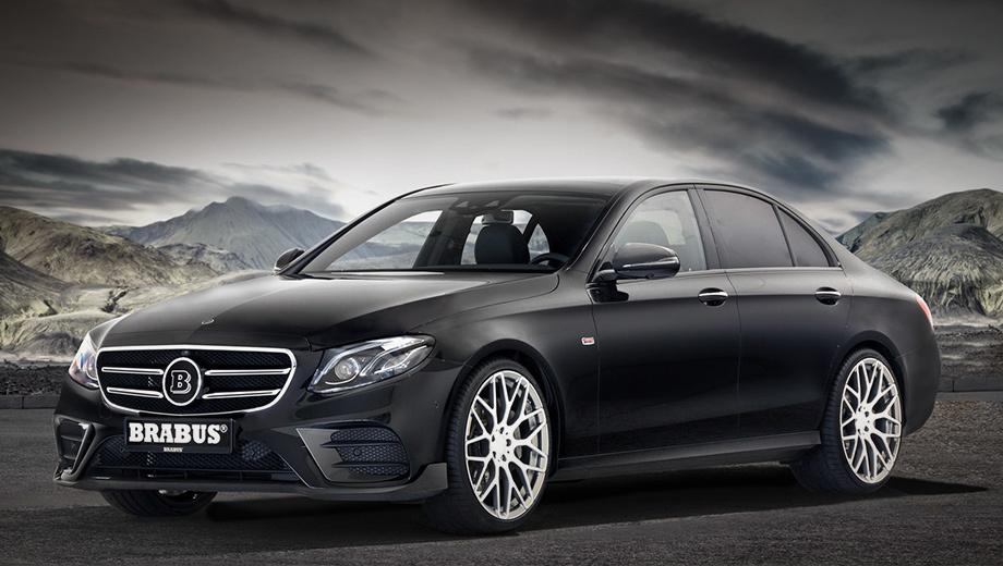 Mercedes e. Для «ешки» доступны два комплекта бамперов от Брабуса. Передние — со сплиттером и другими боковыми воздухозаборниками — увеличивают прижимную силу и придают автомобилю более динамичный внешний вид.