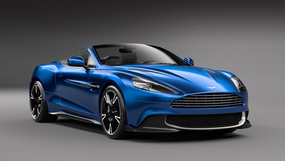 Aston martin vanquish,Aston martin vanquish s,Aston martin vanquish s volante. Спереди от обычного кабриолета Vanquish «эску» можно отличить по оригинальному бамперу.