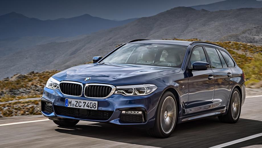 Bmw 5. Бензиновые универсалы BMW 530i и 540i xDrive разгоняются до сотни за 6,5 и 5,1 с соответственно, а дизельные 520d и 530d (530d xDrive) ― за 7,8 и 5,8 с (5,6 с). Данные актуальны для версий с восьмиступенчатым «автоматом».