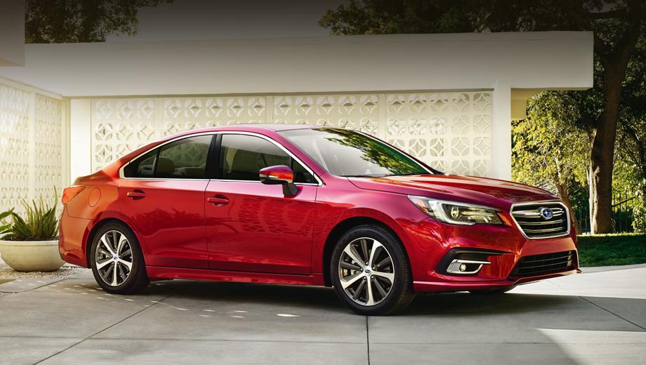 Subaru legacy. Спереди изменены бампер, оптика и решётка радиатора, кроме того, появилась новая окраска колёсных дисков (На снимках — североамериканская модификация 3.6R.)