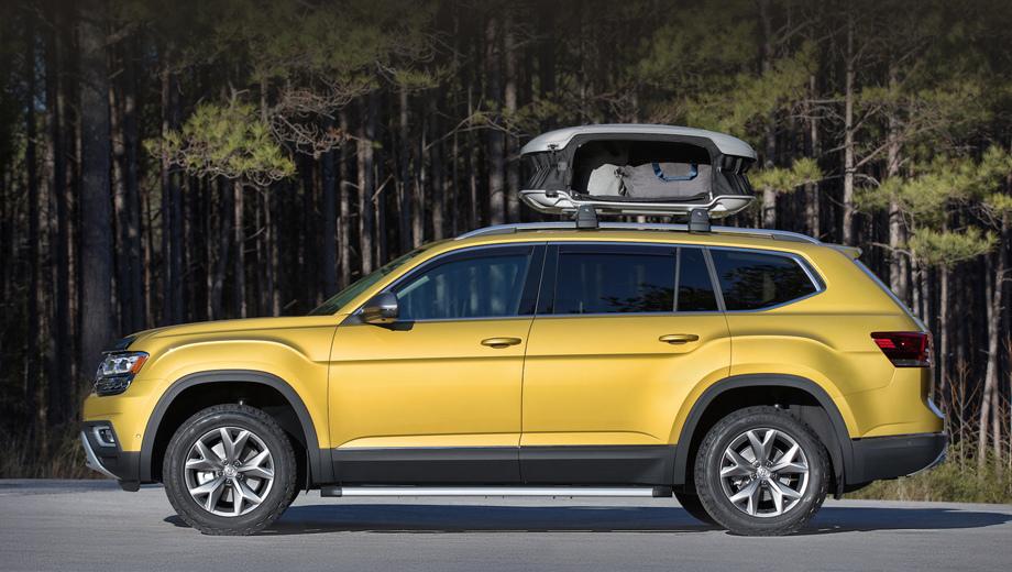 Volkswagen atlas. Концепт построен на основе Атласа в комплектации SEL Premium и оснащён мотором VR6 3.6 мощностью 280 л.с., восьмидиапазонным «автоматом» и полным приводом.
