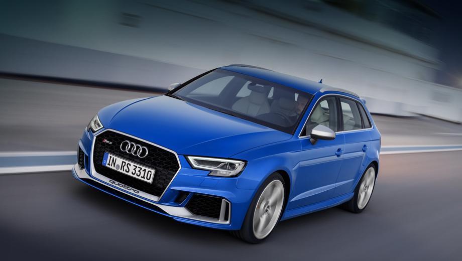 Audi rs3. У хэтчбека Audi RS 3 такой же аппетит, как и у седана. В смешанном цикле оба потребляют 8,3−8,4 л топлива на 100 км в зависимости от выбранной размерности передних шин ― 235/35 R19 или опциональные 255/30 R19.