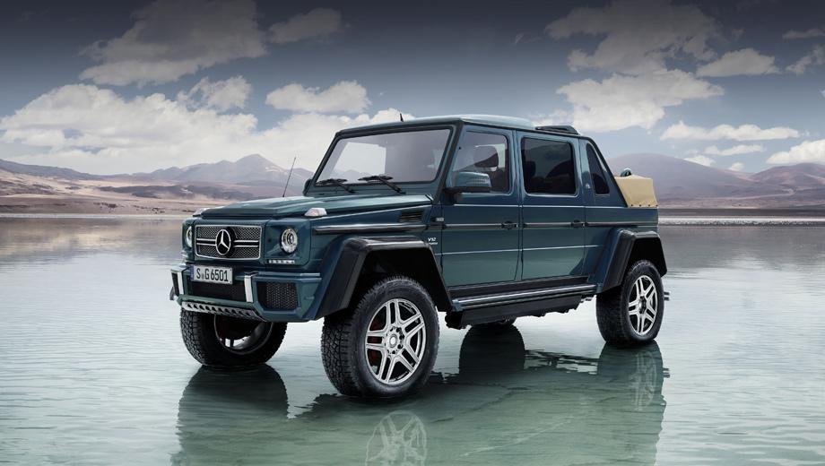 Mercedes -maybach g 650 landaulet,Mercedes g. Длина модели равна 5345 мм (+845 к версии G 500 4x4²), колёсная база — 3428 (+578 мм), высота — 2235 (−10 мм), клиренс — 450 мм (тот же).