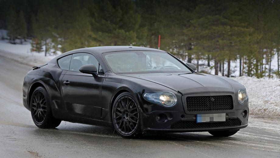 Bentley continental gt. Работы по грядущему купе Bentley Continental GT ведутся уже несколько лет, а дорожные испытания начались ещё в 2015-м. Автомобиль, скорей всего, впервые покажут на Женевском автосалоне в марте 2018-го, а спустя год дебютирует кабриолет GTC.