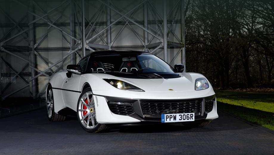 Lotus evora,Lotus evora sport. Схема окраски переднего бампера изменена так, чтобы напоминать о чёрной вставке в носу модели Esprit.