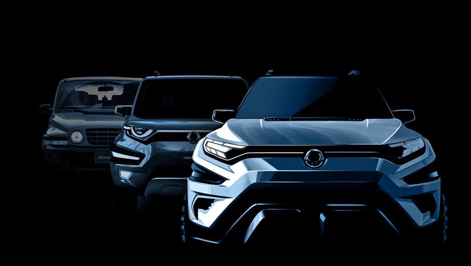 Ssangyong suv,Ssangyong concept,Ssangyong korando,Ssangyong actyon,Ssangyong xavl. Преемственность в одной картинке. Слева направо: «второй» Korando 1996 года, вдохновлённый им XAV и маскулинный XAVL, обещающий совместить преимущества кроссовера с практичностью минивэна (прямо как Mitsubishi XM).