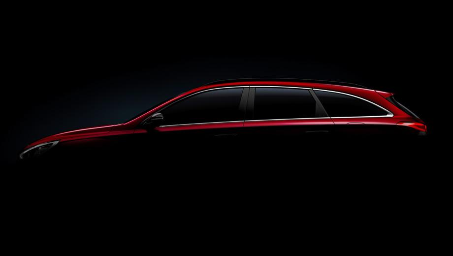 Hyundai i30. Вместо технических данных компания снабдила машину на тизере характеристикой «элегантность и многофункциональность» и упомянуло хромированную окантовку стёкол.