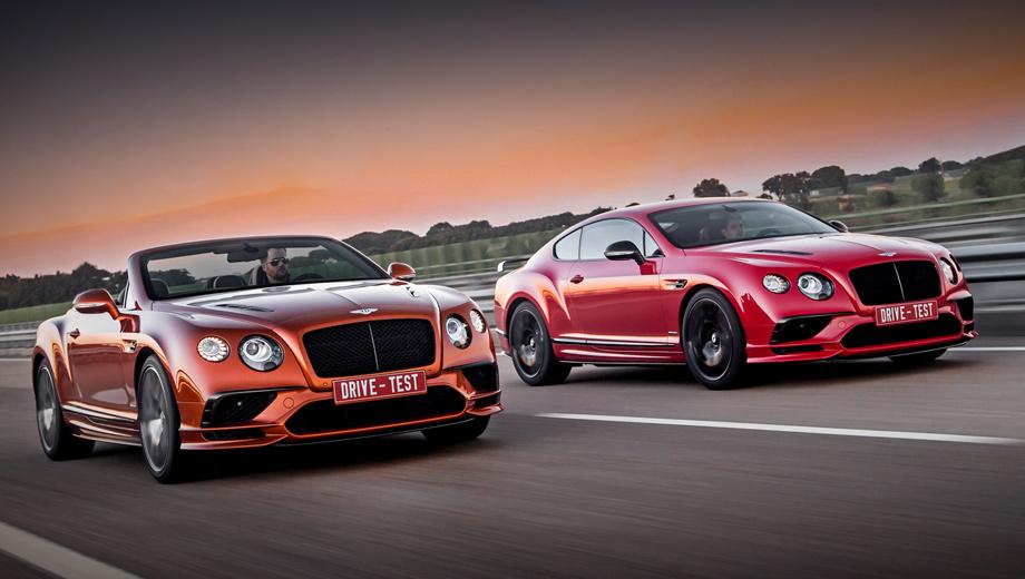 Провожаем Bentley Continental GT за рулём версии Supersports