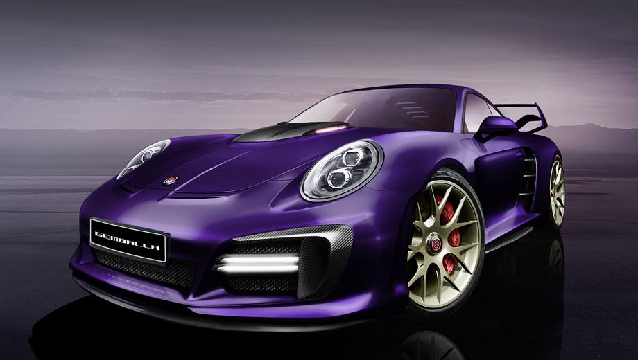 Porsche 911,Porsche 911 turbo. По традиции Гембаллы, вместе с техническими доработками мы увидим эффектные изменения во внешности. Жаль, вместо снимков пока представлена лишь пара тизеров.