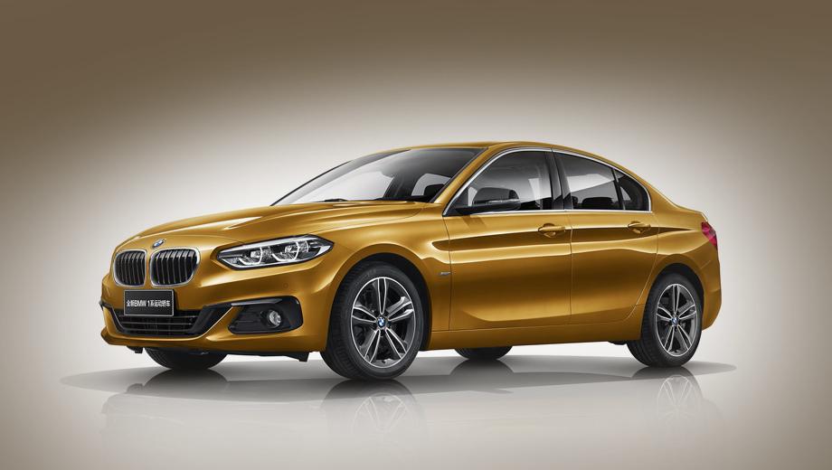 Bmw 1,Bmw 1 sedan. Длина седана равна 4456 мм, ширина — 1803, высота — 1446, а колёсная база — 2670 мм. В палитру кузова входит десять красок.