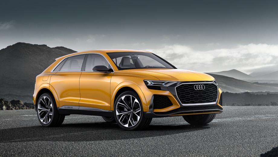Audi q8,Audi q4. Предшественниками серийного «ку-восьмого» были два одноимённых концепта, представленных в январе и марте нынешнего года.