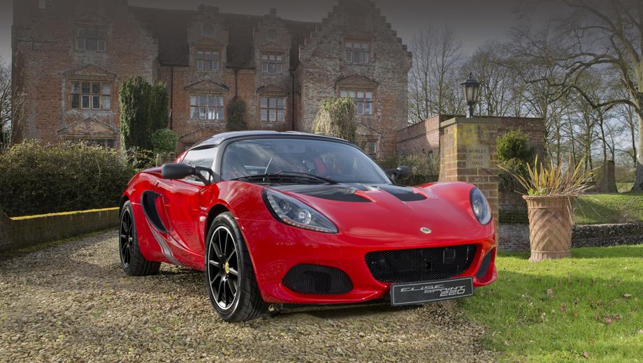 Lotus elise,Lotus elise sprint,Lotus elise sprint 220. Можно сказать, что новая версия Elise заодно представляет и лёгкий рестайлинг всего семейства. В частности, у передних воздухозаборников подправлена форма и выросла площадь.