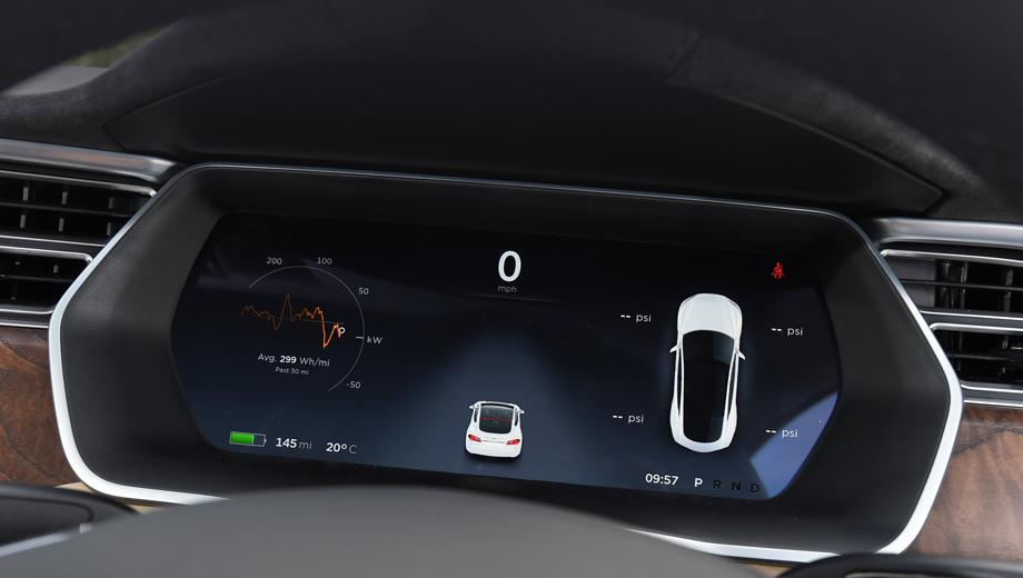 Tesla model s,Tesla model 3. Моноприводный хэтч Tesla S 60 пробегает на одной зарядке 338 км (по циклу EPA), а наибольшим запасом хода в семействе обладает модификация S 100D (539 км). В цикле NEDC параметры равны 400 и 632 км соответственно.