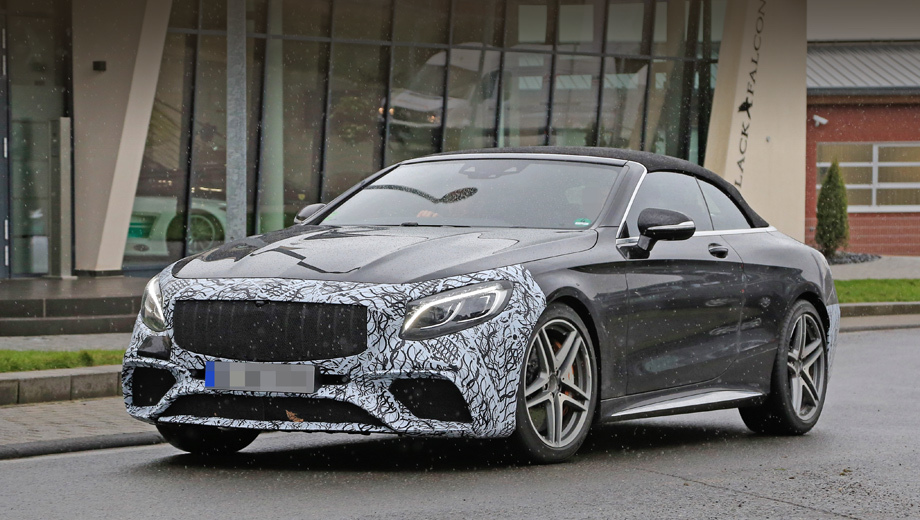 Mercedes s amg,Mercedes s,Mercedes s cabrio. Как видим, вслед за «горячим» купе кабриолет примерил решётку радиатора в стиле спорткара Mercedes-AMG GT.