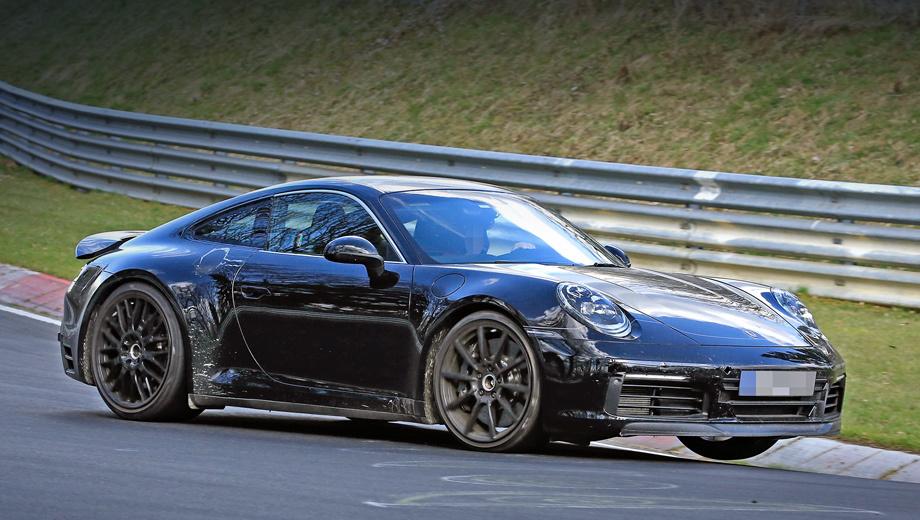 Porsche 911,Porsche 911 gt3 rs. На рынок Porsche 911 серии 992 поступит в первой половине 2019 года. Даже базовые версии получат электронноуправляемые амортизаторы, но полноуправляемое шасси и углеродокерамические тормоза будут доступны опционально.