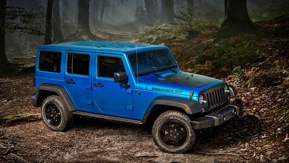 Jeep wrangler. Нынешний Jeep Wrangler JK, дебютировавший в 2006 году, будет выпускаться параллельно с преемником до конца марта 2018-го. К слову, в США это довольно популярный внедорожник ― с 2007 по 2016 год янки купили свыше 1,35 млн Рэнглеров.