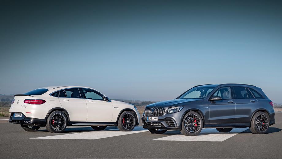 Mercedes glc,Mercedes glc coupe,Mercedes glc amg,Mercedes glc coupe amg. Тип кузова не играет роли, когда дело касается динамики и расхода топлива. Базовые GLC 63 выстреливают до сотни за четыре секунды, а топлива в смешанном цикле потребляют 10,3 л/100 км. «Эски» же могут похвастаться 3,8 с и 10,7 л на 100 км.