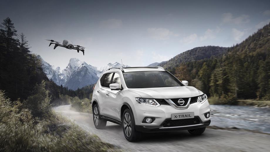 Nissan x-trail. Nissan X-Trail X-Scape сделан на основе версии Tekna, которая является аналогом российской LE Top. У нас модель в таком варианте оценивается минимум в 1 797 000 рублей за полноприводную машину с двухлитровым бензиновым мотором и вариатором. Пока неизвестно, будут ли продавать в России паркетник с дроном впридачу.