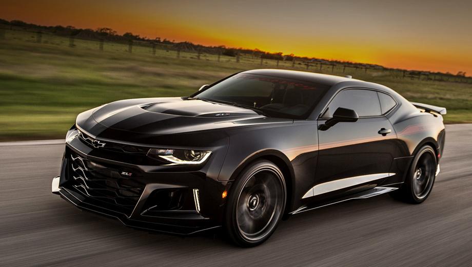 Chevrolet camaro zl1,Chevrolet camaro. Дебют 1000-сильного монстра Hennessey Exorcist уже прошёл на местечковом мотор-шоу в Хьюстоне, штат Техас. Ежегодно планируется выпускать 100 подобных автомобилей. Тюнинг-ателье предоставляет гарантию на кит два года или 24 тысячи миль (38 624 км).
