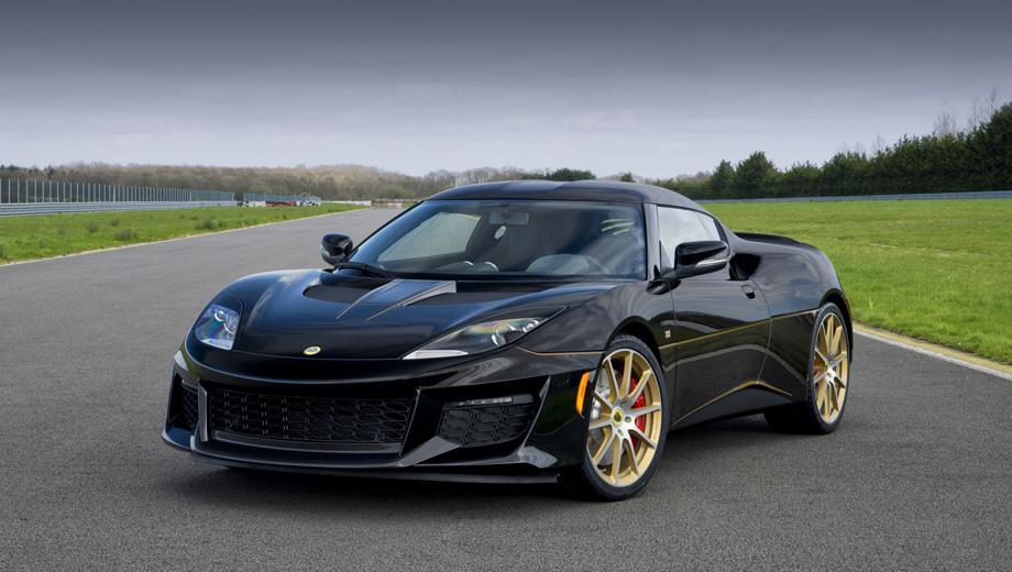 Lotus evora,Lotus evora sport. Модель 410 от менее динамичных сестёр отличается не только меньшей массой, но и перекалиброванной подвеской с занижением на 5 мм. Инженеры уверяют, что этот вариант Эворы в поворотах заметно быстрее, чем другие модификации.