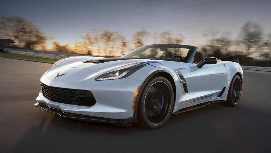 Chevrolet corvette. Премьера Корвета в спецсерии Carbon 65 Edition состоится на этой неделе на автосалоне в Нью-Йорке. Продажи стартуют летом 2017 года, а наценка за украшательства составит $15 тысяч.