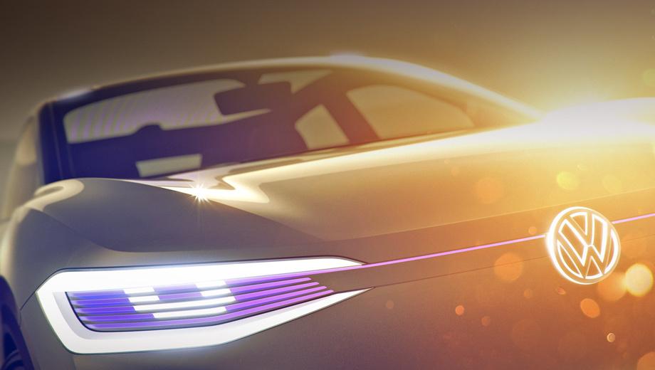 Volkswagen id crossover,Volkswagen concept. Семейство I.D. призвано всесторонне слепить светодиодами, но не исключено, что перед нами батарейная вариация паркетника Volkswagen T-Roc, чьё появление запланировано на осень этого года.