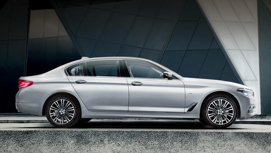 Bmw 5. Как говорят специалисты BMW, «пятёрка» Li нового поколения легче предшественницы на 130 кг. Если так, то снаряжённая масса дебютанта составляет 1640−1720 кг. Версии со стандартной колёсной базой легче ― от 1615 до 1670 кг.