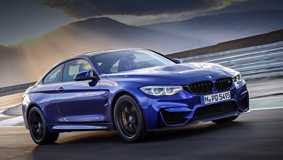 Bmw m4,Bmw m4 cs. Снаряжённая масса купе BMW M4 CS — 1580 кг. У стандартной «эм-четвёртой» этот показатель составляет 1612 кг, а у версии M4 GTS ― 1510 кг. Композитный капот на 25% легче металлического аналога, а крыша из углеволокна помогла сэкономить шесть килограммов.