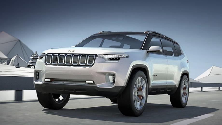 Jeep yuntu,Jeep concept. Видевшие автомобиль живьём утверждают: по размерам Yuntu больше, чем Grand Cherokee, то есть это самый крупный кроссовер марки. И к тому же — самый роскошный.