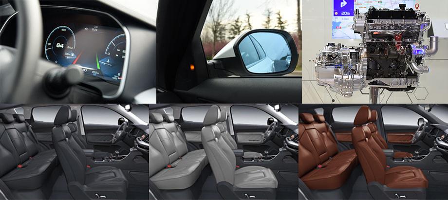 В модели предусмотрена система слежения за разметкой, слепыми зонами зеркал, поперечным трафиком сзади. Есть система контроля давления в шинах. Также обращает на себя внимание цифровая приборка.