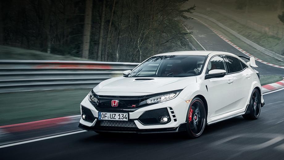Honda civic type r. На кольцо выехал серийный Civic Type R с минимумом доработок, который будет производиться в Суиндоне (Великобритания) и поступит в продажу в Европе летом нынешнего года.