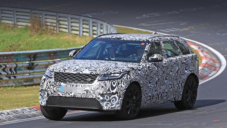 Range Rover вывел натесты «заряженный» кроссовер Velar SVR