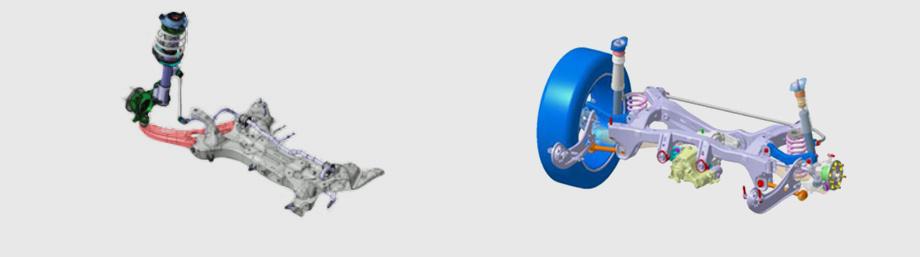 """Передняя подвеска на стойках McPherson у всех версий одинакова, но настройки подобраны под разные массы автомобиля. В частности у версии 1.6 AWD — свои амортизаторы. Она оснащена задней многорычажкой ― в отличие от полузависимой балки на переднеприводниках. Заметного влияния на управляемость это компоновочное решение не дало. Все полноприводные Креты оснащены электроусилителем рулевого управления, с мотором на валу. Элементы полноприводной трансмиссии унифицированы со старшими кроссоверами Tucson, <a  data-cke-saved-href=""""/e/BkeHAEAAB8c"""" href=""""/e/BkeHAEAAB8c"""" class=""""c-link"""">Santa Fe</a> и <a  data-cke-saved-href=""""/e/BjIggAAAAYU"""" href=""""/e/BjIggAAAAYU"""" class=""""c-link"""">Grand Santa Fe</a>."""