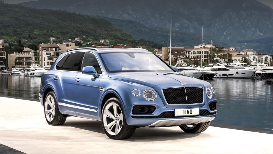 Bentley bentayga. Это первая дизельная модель марки Bentley. Расход топлива в комбинированном цикле равен 8,0 л/100 км, запас хода — порядка 1000 км, максималка — 270 км/ч.