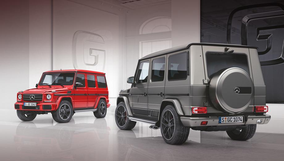 Mercedes g. Заказы в Германии уже принимаются, а первые машины появятся у дилеров в сентябре 2017 года. Mercedes G 350 d designo manufaktur Edition (на фотографии слева) стоит 109 878 евро, а G 500 той же серии ― 121 683 евро. Для сравнения, обычные G 350 d и G 500 оцениваются в 91 409 и 106 701 евро соответственно.