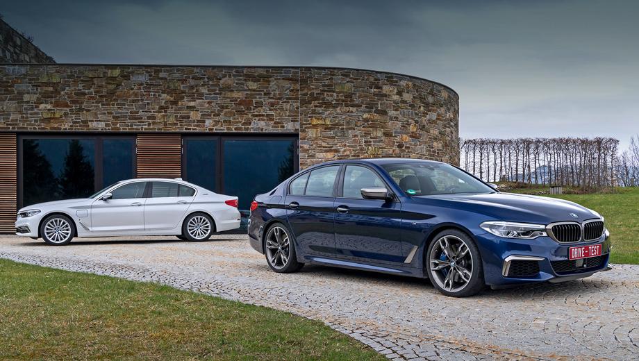 Bmw 5. Седан M550i xDrive (462 л.с.) оценён в 5,1 млн рублей. Опций — ещё на пару миллионов. Audi S6 (450 л.с.) стоит от 5,2 млн, Mercedes-AMG E 43 4Matic (401 л.с.) — 4,87 млн. Гибрида 530e iPerformance (252 л.с.) у нас не будет, а в Германии он на 2800 евро дороже, чем 530i той же мощности.