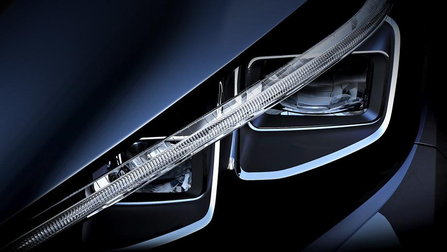 Nissan leaf. Изображение фары, распространённое в соцсетях, компания сопроводила лишь фразой: «Поразительные вещи стоят того, чтобы их ждать. Следующая глава в области интеллектуальной мобильности с нулевым уровнем выбросов скоро будет раскрыта».
