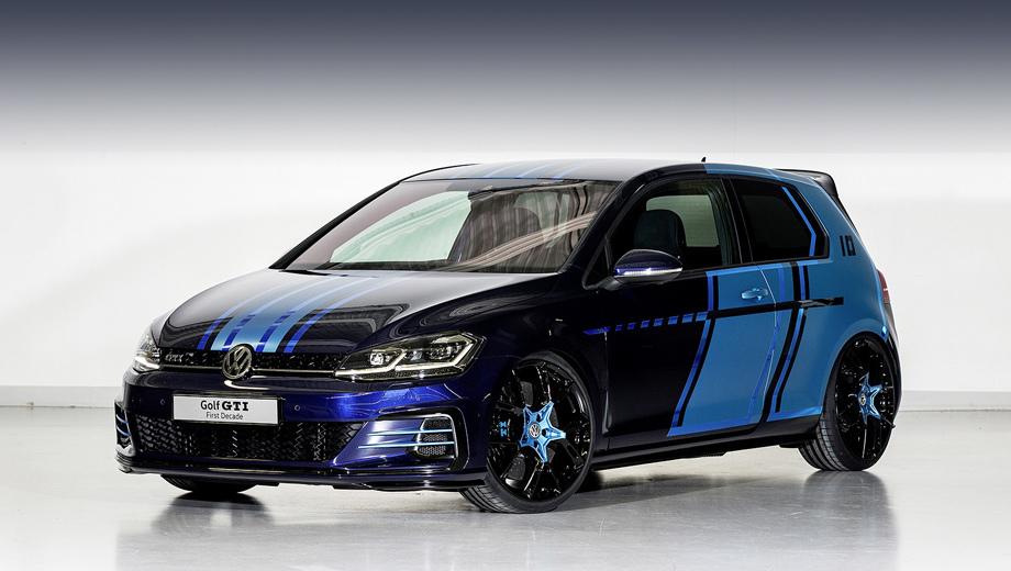 Volkswagen golf,Volkswagen concept,Volkswagen golf gti,Volkswagen golf gte. Трёхдверка First Decade — это десятый концепт с индексом GTI, созданный учащимися Фольксвагена (авторам шоу-кара от 18 до 23 лет). Традиция эта стартовала в 2008 году.