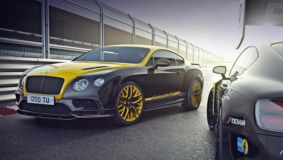 Bentley continental supersports. Машины специального издания Continental 24 технически идентичны «обычным» купе. Двигатель W12 6.0 (710 л.с., 1017 Н•м) с восьмиступенчатым «автоматом» ZF выстреливают Supersports до сотни за 3,5 с, позволяя развить максималку в 336 км/ч.