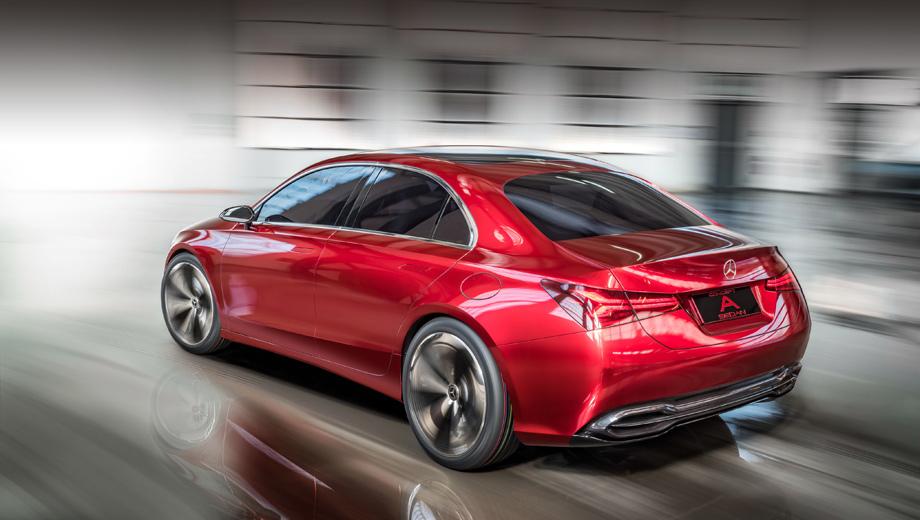 Mercedes a. Семейство переднеприводных Мерседесов будет расширено, например, за счёт седана с индексом А (на фото предвещающий его Concept A Sedan, показанный в прошлом месяце).