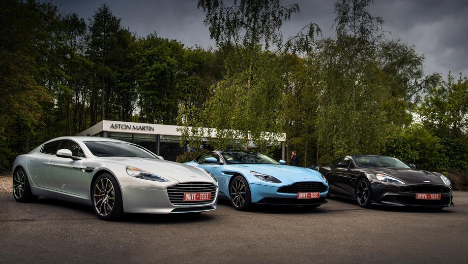 Aston martin db11,Aston martin rapide,Aston martin vanquish,Aston martin v8 vantage. Российский дилер предлагает весь модельный ряд, включая лифтбек Aston Martin Rapide, новейшее купе DB11, гран-турер Vanquish и не вошедшее в кадр начальное купе Vantage. Цены ― от 15−20 млн рублей. Точные цифры лишены большого смысла: все машины оригинальны.