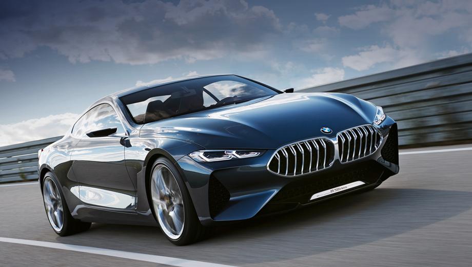 Bmw 8,Bmw 8 concept,Bmw concept. Дебют серийной «восьмёрки» BMW состоится во Франкфурте в 2017-м, а в продажу купе поступят в 2018-м. Год спустя клиентам предложат кабриолеты. Главный оппонент на рынке ― Mercedes S Coupe и Cabriolet. Отсюда и соответствующий ценник, который, по слухам, ниже 100 тысяч евро не опустится.