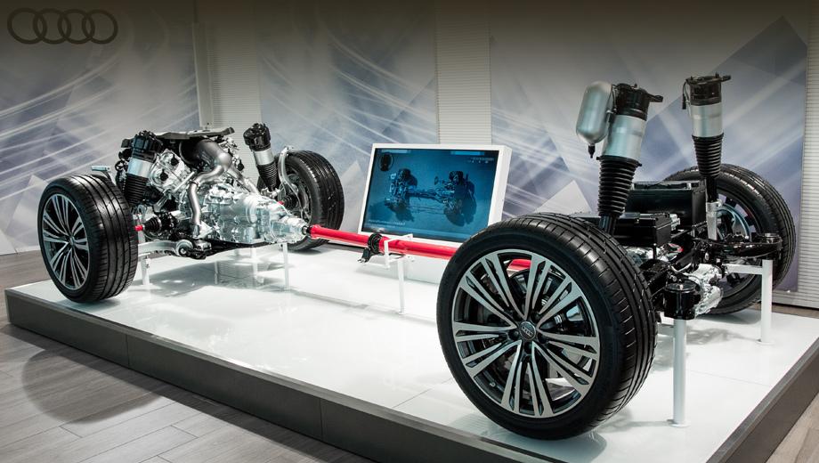 Audi a8. В основе модели А8 лежит платформа MLB Evo, как у кроссовера Audi Q7.