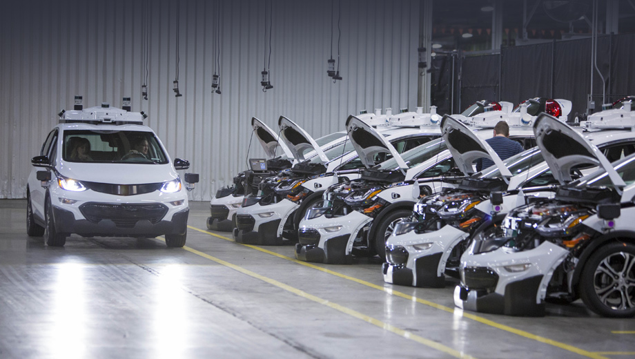 Chevrolet bolt. Теперь у GM в строю свыше 180 тестовых экземпляров беспилотников на основе Болта. Хороший задел, чтобы побороться за звание самой передовой фирмы в данной области.