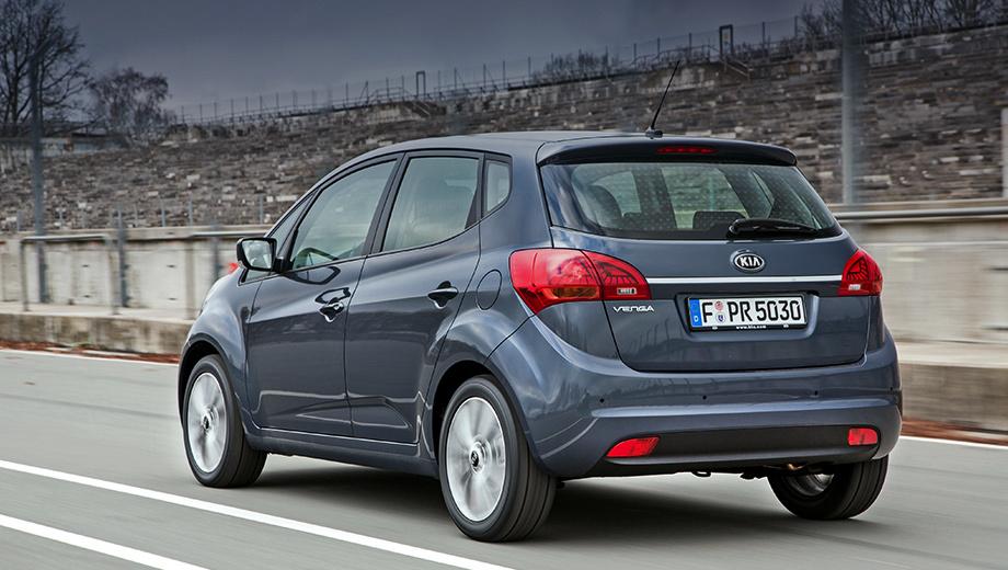Kia venga. На российском рынке автомобиль предлагался с бензиновыми моторами 1.4 (90 л.с., 137 Н•м) и 1.6 (124 л.с., 156 Н•м), пятиступенчатой «механикой» и шестидиапазонным «автоматом» по средней цене около 800 тысяч рублей.