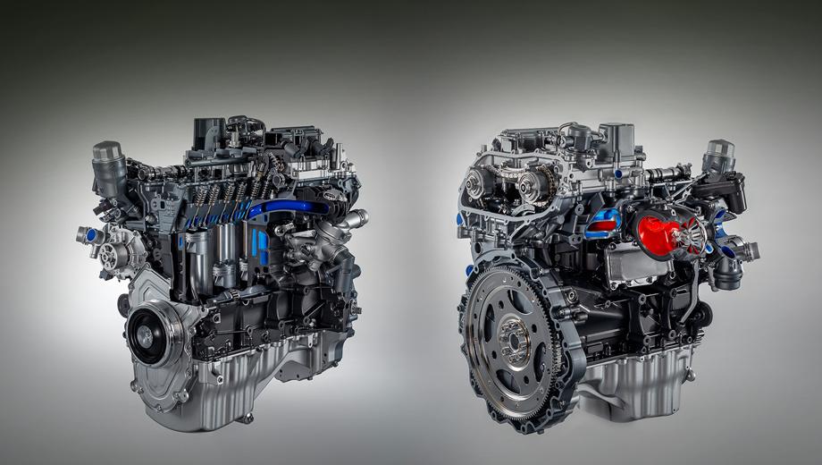 Jaguar xe,Jaguar xf,Jaguar f-pace. Двигатель с непосредственным впрыском топлива, выпускным коллектором, интегрированным в блок, фазовращателями на впуске и турбокомпрессором с двойным рабочим аппаратом в Великобритании доступен для заказа.