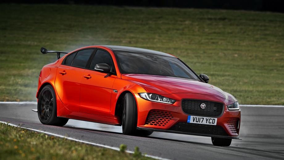 Jaguar xe,Jaguar xe sv,Jaguar xe sv project 8. Крыша, крылья, двери и крышка багажника сделаны из алюминия, а капот, бамперы и пороги — из углеволокна. Максимальная скорость седана — 320 км/ч. Мировой дебют состоится на Фестивале скорости в Гудвуде 30 июня 2017 года.